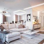 белая мебель в теплых оттенках