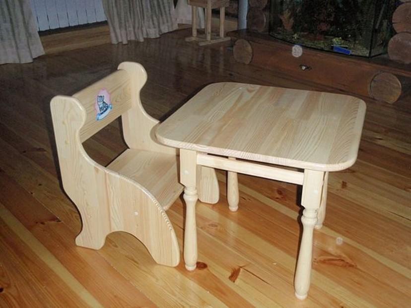 Стул и стол детский из дерева своими руками