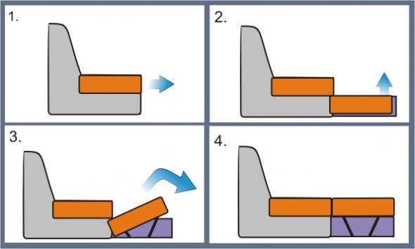 Диван с механизмом трансформации Дельфин: выбор в 75 фото
