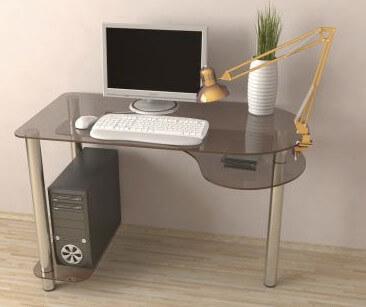 Подобрать компьютерный стол из стекла и его высоту