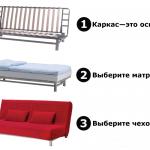 Покупая диван-кровать БЕДИНГЕ, вы можете выбрать матрас и чехол