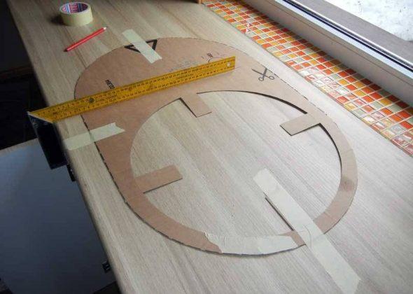 Шаблон для разметки столешницы под раковину