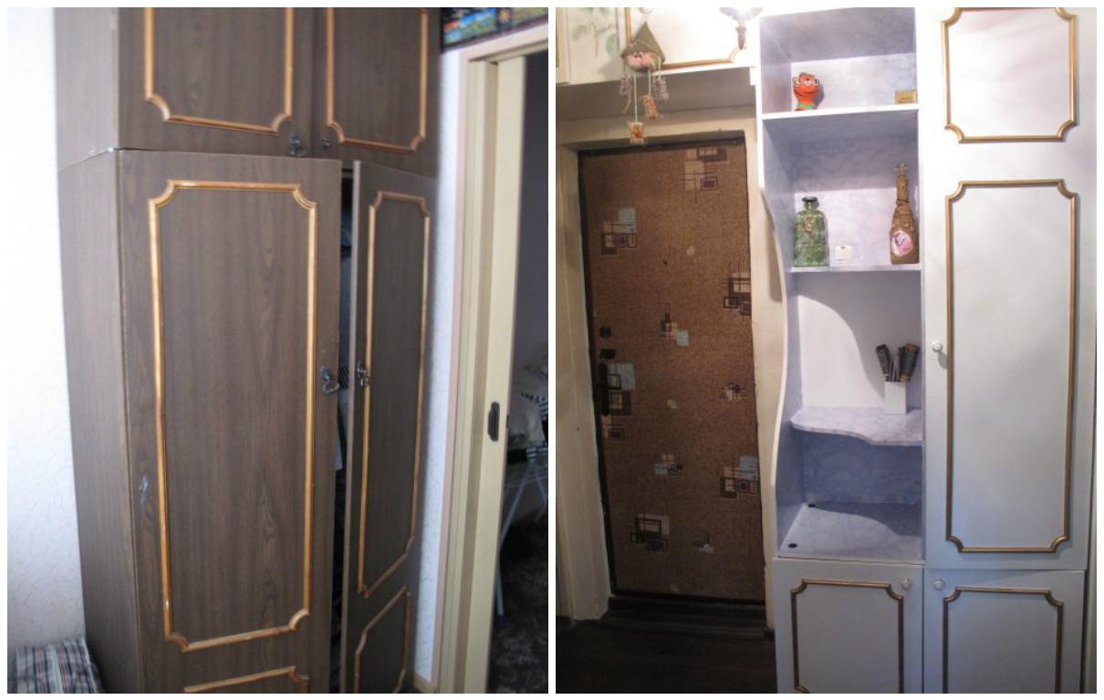 Как преобразить старый шкаф своими руками фото до и после картинки 56