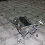 Стеклянный овальный стол своими руками