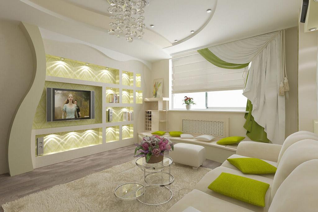 Дизайн гостинных комнат