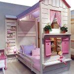 детская кровать с бортиками домик