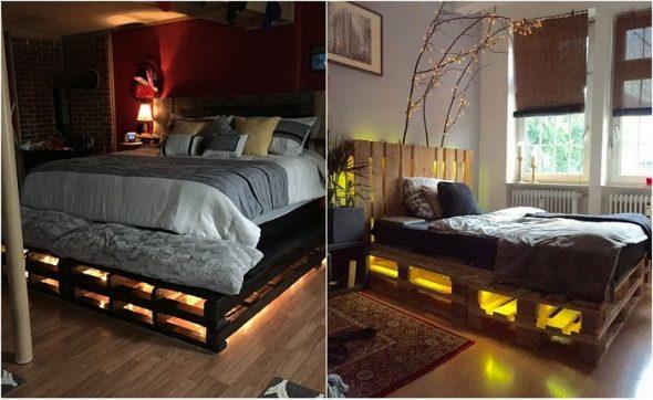 Кровать из паллетов своими руками идеи современного дизайна