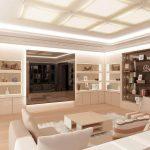 белая мебель в классической гостиной