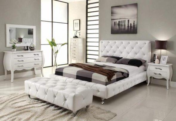 белая светлая спальня