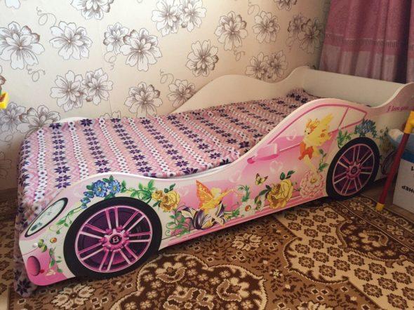 бельмарко кровать розовая