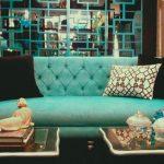 бирюзовый диван гостиная