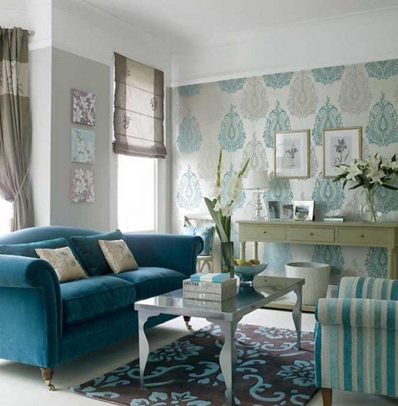 бирюзовый диван прованс