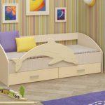 кровать дельфин в интерьере