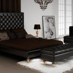 черная двуспальная кровать