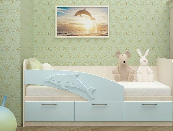 кровать дельфин в детской