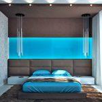 декор стены в спальне над кроватью современно