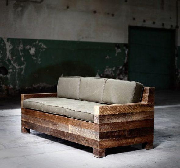 деревянный диван в комнату