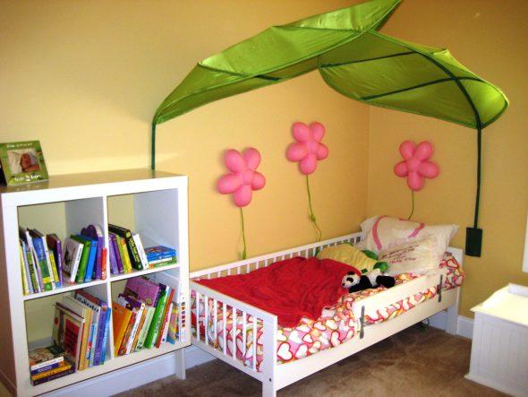 детская кровать икеа белая