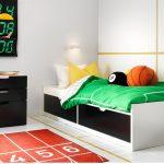 детская кровать икеа черно белая