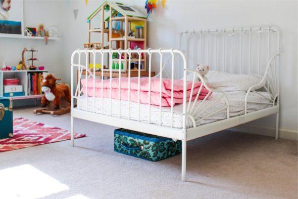 детская кровать икеа миннен