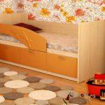 детская кровать дельфин оранжева