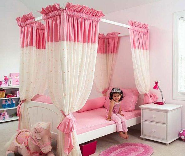 детская кроватка с пологом