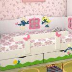 детская кровать с бортиками для девочки
