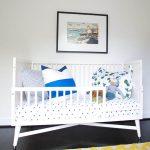 детская кровать с бортиками белая