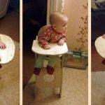 детский стульчик для кормления с разных ракурсов
