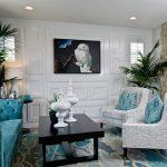 диван бирюзовый гостиная