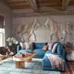 диван бирюзовый современный