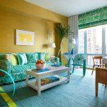 диван бирюзовый стильный