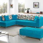 диван бирюзовый угловой стильный