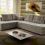 диван угловой с поворотным механизмом белого цвета