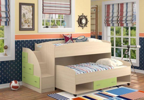 двуспальная кровать дельфин