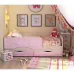 розовая кровать дельфин