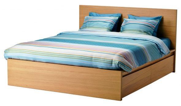 двуспальная кровать икеа