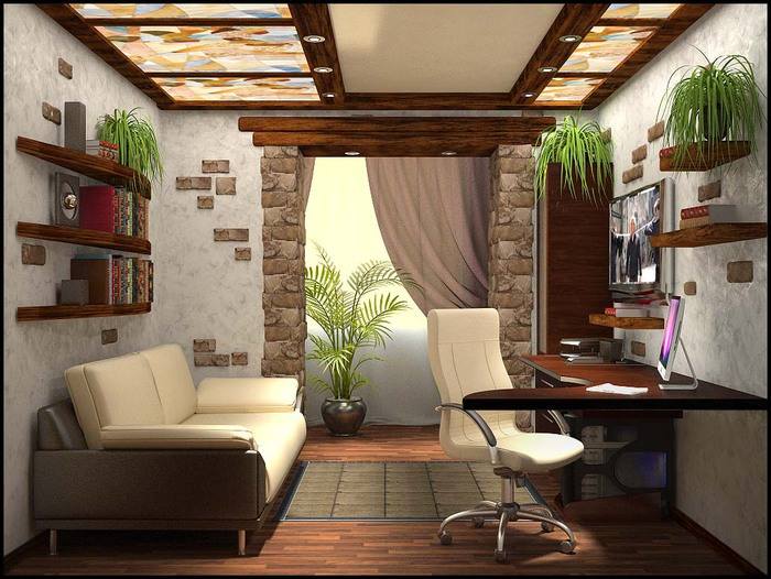 интерьер кабинетов в квартире фото