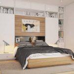 двуспальная кровать оформление изголовья