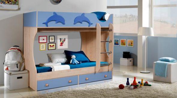 двухэтажная кровать дельфин