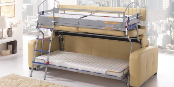 кровать-диван спасательный круг для малогабаритной квартиры