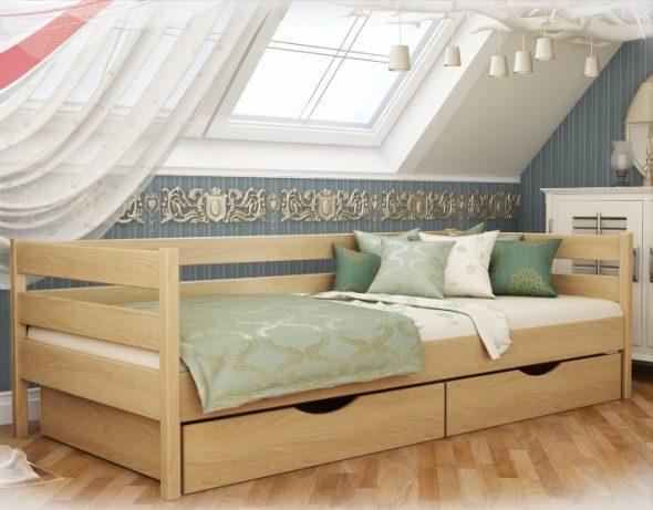 кровать с задним бортиком