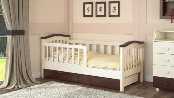 кровать деревянная детская