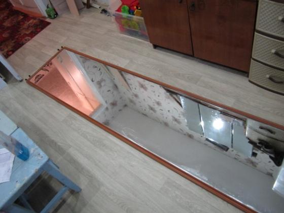 обрезка зеркала