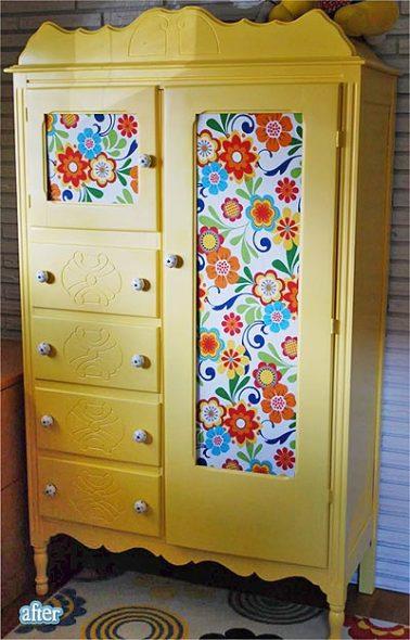 отреставрировать старый шкаф в домашних условиях