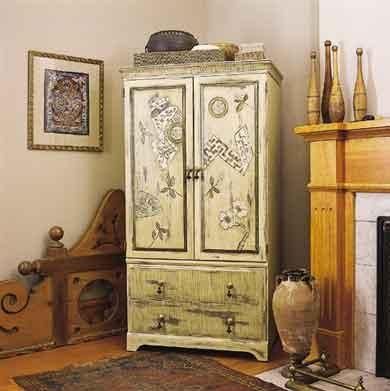 переделка шкафа (декупаж)