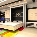 откидная двуспальная кровать