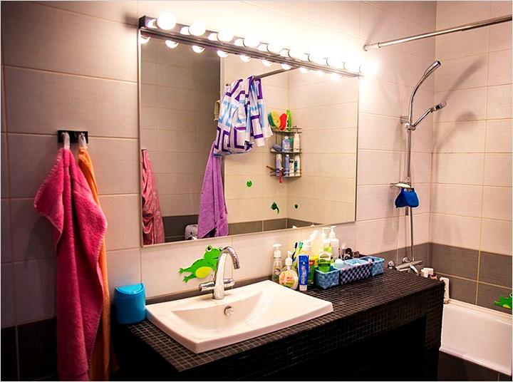 Подсветка в ванной комнате - ванные комнаты - Освещение в ванной комнате (45 фото как сделать подсветку с)