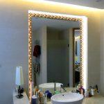 зеркало с подсветкой монтаж