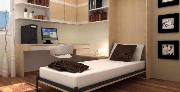 односпальная подъемная кровать